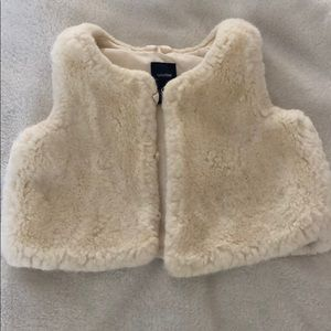 Baby GAP faux fur vest